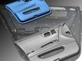 Car door panel scan data and final CAD model