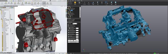 creaform engine scan screenshot VX Software