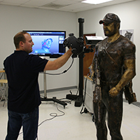 3D scanning sculpture 200x200 EMS Donates Time to Help U.S. Veterans and Honor American Hero Chris Kyle